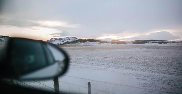 pogled iz automobila na put